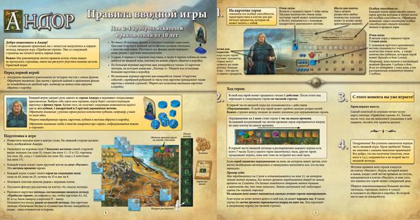 Правила настольной игры Андор перевод