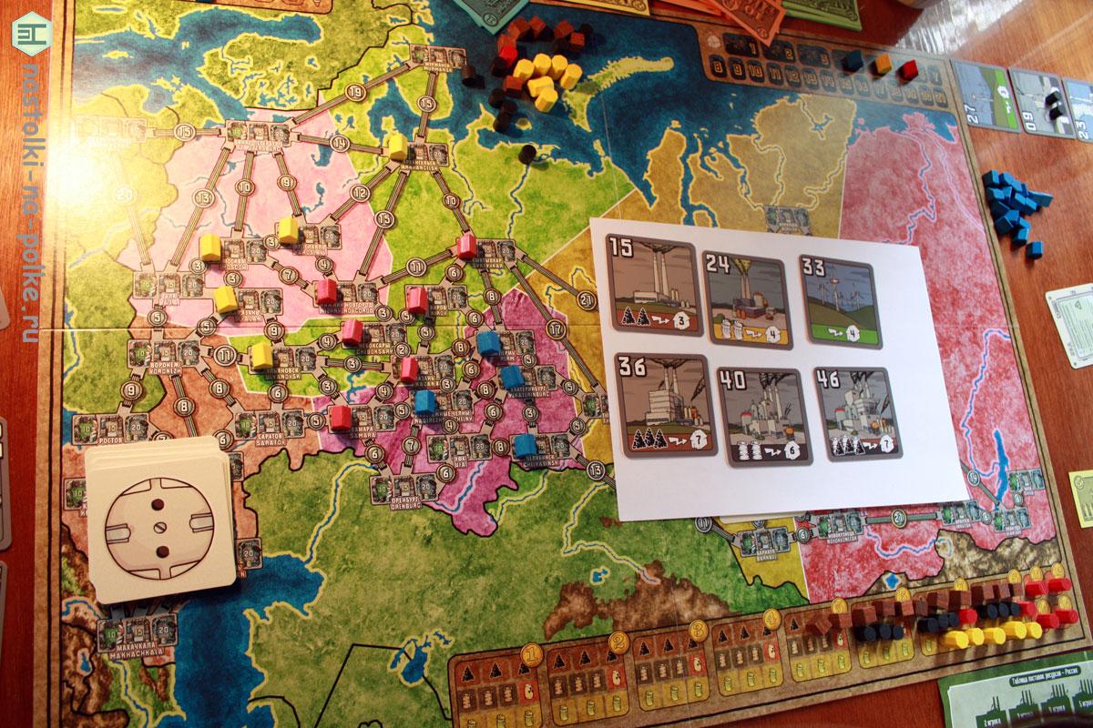 Настоььная игра Power Grid Russia Japan